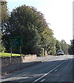 SJ8478 : Alderley Edge distances sign 10 miles from Congleton by Jaggery