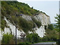 TQ5774 : Old quarry edge at Bluewater, Kent by Richard Humphrey
