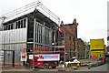 NY4056 : New arts complex for Carlisle College under construction by Rose and Trev Clough