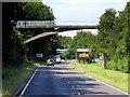 SU6251 : Footbridge over Ringway West (A340) by David Dixon