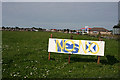 NJ4364 : Defaced Campaign Sign by Anne Burgess