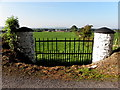 H2584 : Traditional stone-built gate pillars, Kilcroagh by Kenneth  Allen
