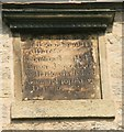 SK2796 : Date stone on former Bolsterstone Free School by Graham Hogg