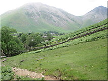NY1807 : Path leading up Lingmell by Peter S