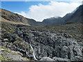 NG4323 : Waterfall above Coire a' Ghreadaidh by John Allan