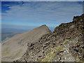 NG4423 : Narrow path on Sgùrr a' Mhadaidh by John Allan