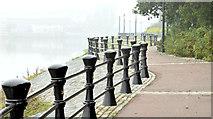 J3473 : Mist, River Lagan, Belfast (September 2014) by Albert Bridge