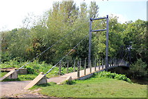 SJ5510 : Cable-Stayed Footbridge over the River Tern by Jeff Buck