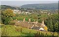 SD9806 : Husteads, looking east towards Dobcross village. by Michael Fox