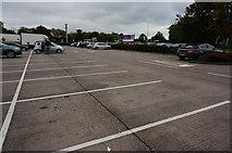 SJ7760 : Parking area, Sandbach Services by jeff collins