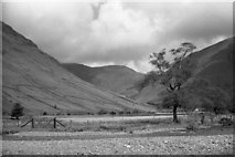 NY1807 : Lingmell Beck from the campsite by Peter Bond