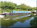 """SP8814 : Narrowboat """"Dart"""" of Severn Canal Carrying Co. at Bates Boatyard by David Hawgood"""