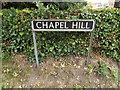 TM2788 : Chapel Hill sign by Adrian Cable