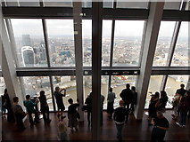 TQ3280 : London: Shard visitors look over the City by Chris Downer