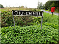 TM2887 : Church Hill sign by Adrian Cable