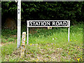 TM2885 : Station Road sign by Adrian Cable
