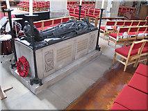 TQ3871 : St John the Baptist, Catford: Forster monument by Stephen Craven