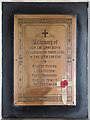 TG2633 : St Giles, Bradfield - War Memorial WWI by John Salmon