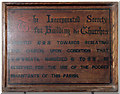 TG2532 : St Mary, Antingham - ISBC board by John Salmon
