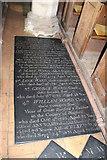 TG2834 : St Botolph, Trunch - Ledger slab by John Salmon