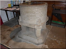 SD9772 : St. Mary, Kettlewell: font by Basher Eyre