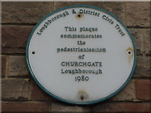 SK5319 : Plaque in Church Gate by Basher Eyre
