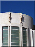 SD4264 : Sea horses on the Midland Hotel, Morecambe by Karl and Ali