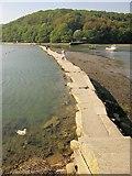 SX2553 : Mill pool dam, West Looe by Derek Harper