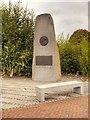 SJ7996 : Trafford Park Village, The Memorial to Marshall Stevens by David Dixon