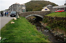 SX0991 : Bridge over the River Valency, Boscastle by jeff collins
