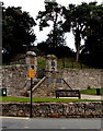SJ2929 : Steps into Oswestry Castle Grounds by Jaggery