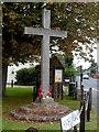 TL9620 : Wooden war memorial, Layer de la Haye by Bikeboy