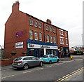 SJ2929 : Advertizer newspaper office in Oswestry by Jaggery