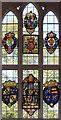 TQ5493 : St Thomas, Church Lane, Noak Hill, Havering - Stained glass window by John Salmon