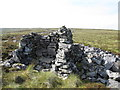 NY6156 : Cairn / shelter on the Tindale Fells by Mike Quinn