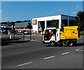 ST3187 : Sweeping up near the Granville Street Lidl in Newport by Jaggery