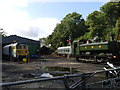 SX0766 : Preserved railway at Bodmin, GWR 4612 and BR class 50 by Rob Purvis
