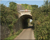 SS8178 : Former tramroad and railway bridge over Moor Lane, Nottage by eswales
