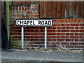 TM3863 : Chapel Road sign by Adrian Cable
