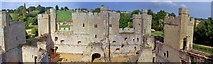 TQ7825 : Bodiam Castle, Interior by Len Williams