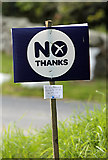 NT4437 : A No Thanks sign at Clovenfords by Walter Baxter