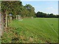 SU9746 : Sports field, Binscombe by Alan Hunt