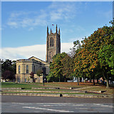 SK3536 : Derby Cathedral from the riverside by John Sutton