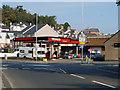 SH5872 : Texaco Garage on Beach Road, Bangor by Ian S