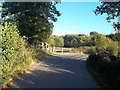 SK2643 : Lane Bend and Footpath Entrance at Mercaston by Jonathan Clitheroe