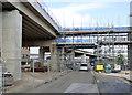 SK5438 : Pedestrian access bridge by Alan Murray-Rust