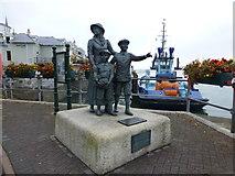 W7966 : Annie Moore sculpture, Cobh by Kenneth  Allen