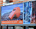 "J3474 : ""Whistl"" Giant's Causeway post, Belfast (September 2014) by Albert Bridge"