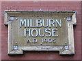 NZ2563 : Date stone on Milburn House, Amen Corner, NE1 by Mike Quinn