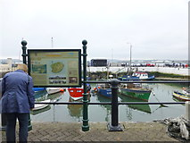 W7966 : Information board at Cobh harbour by Kenneth  Allen